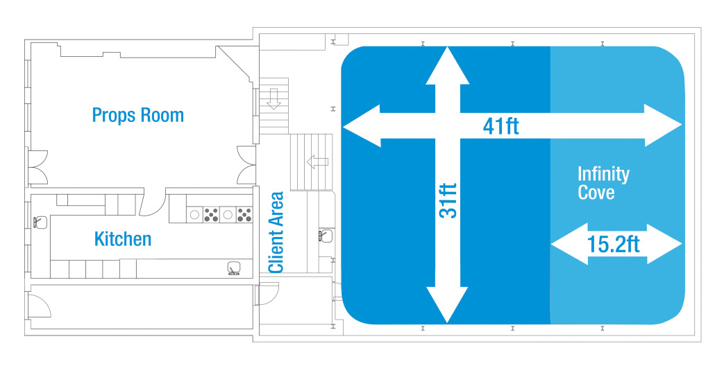 Floor Plan of our London Film and TV Studio