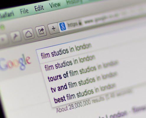 Google film studio search