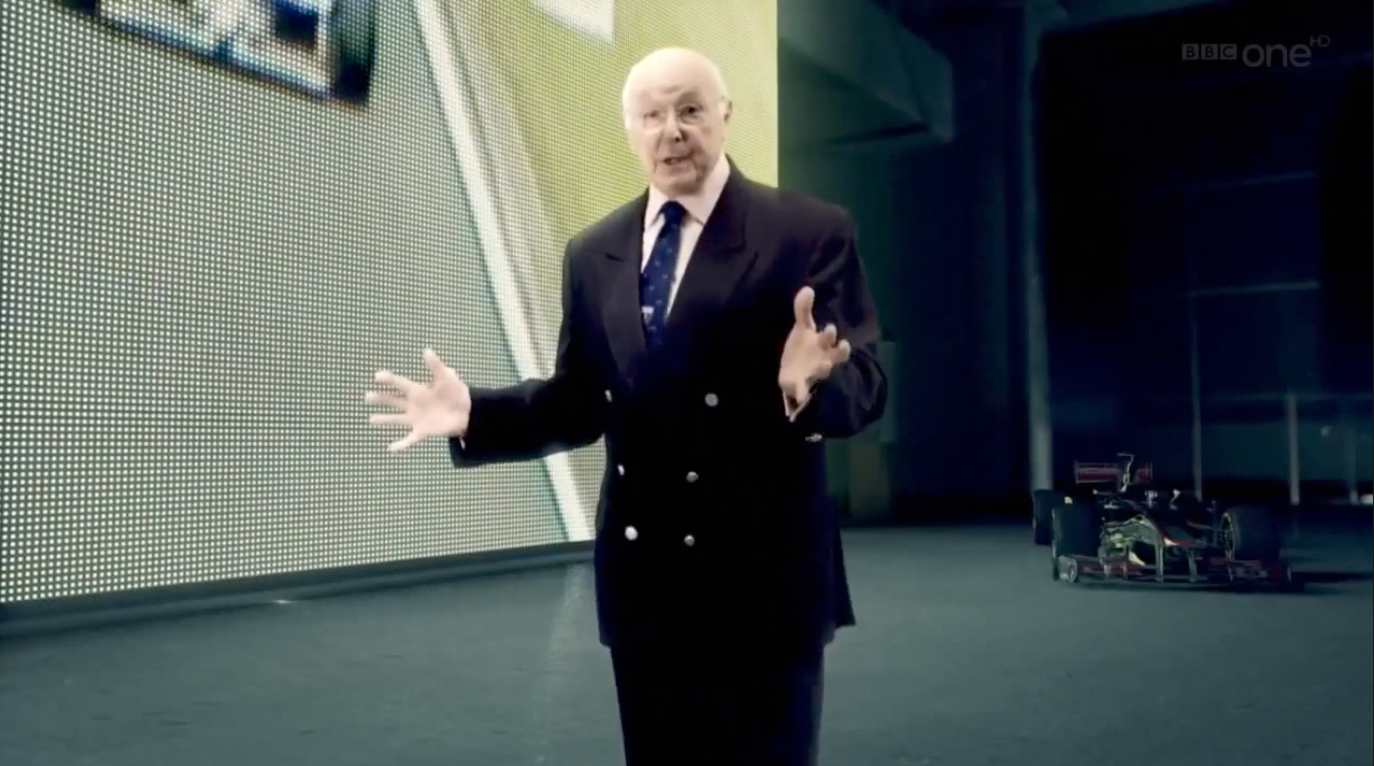 Murray Walker green screen BBC promo