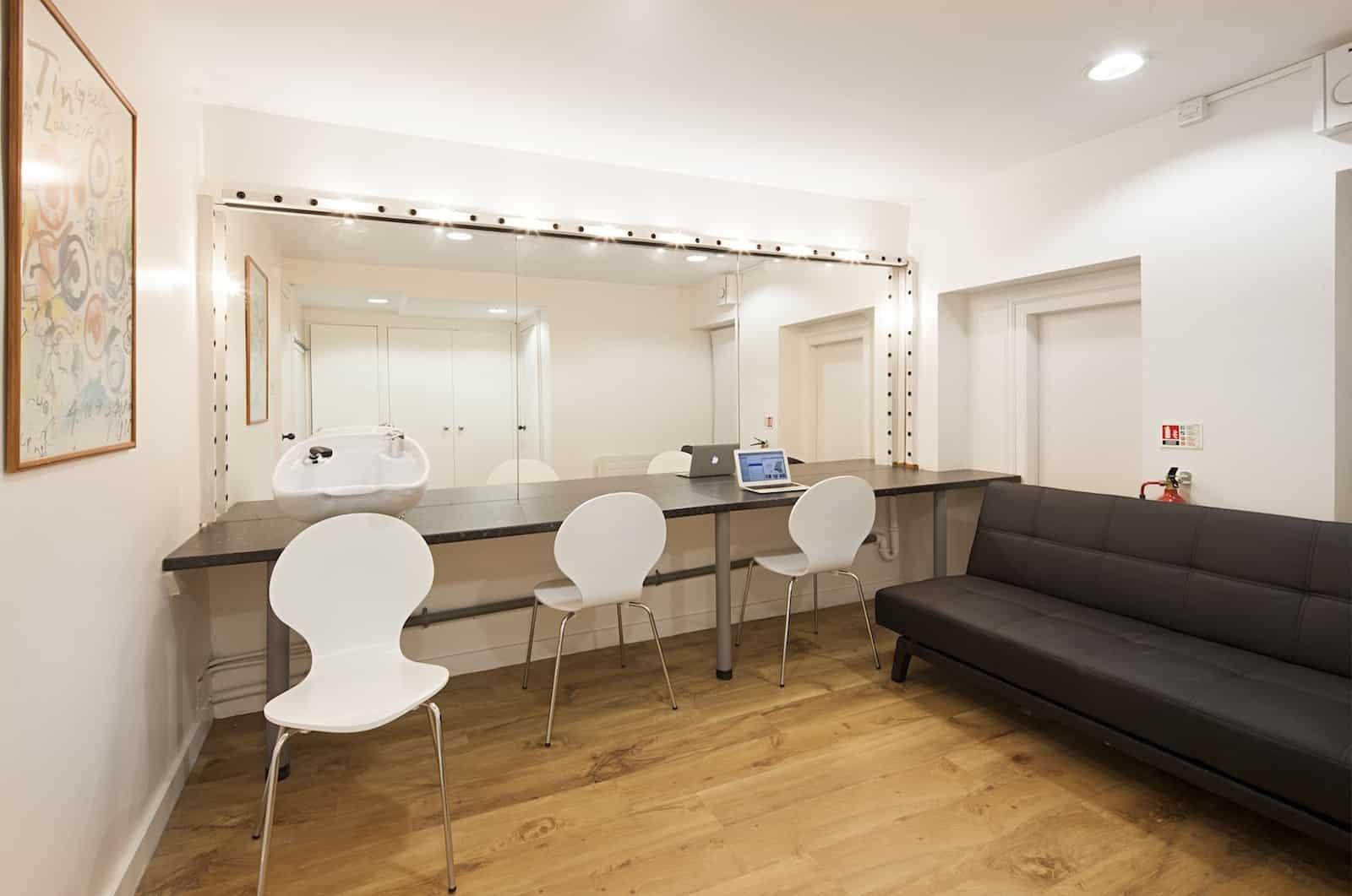 london tv studio makeup room